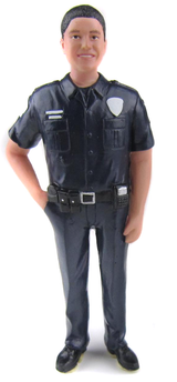 Police Officer Groom Cake Topper Figurine