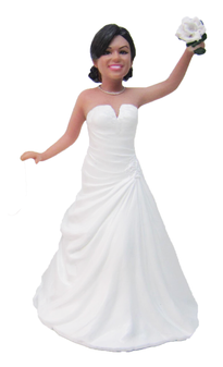 Dancing Bride Cake Topper Figurine