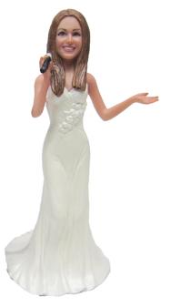 Singing Bride Cake Topper Figurine