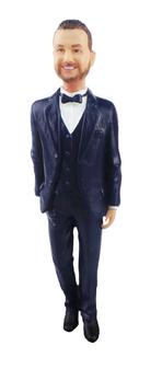 Tuxedo Groom Cake Topper Figurine