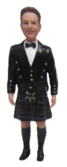 Kilt Groom Cake Topper Figurine
