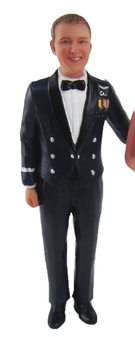 Airforce Groom Cake Topper Figurine
