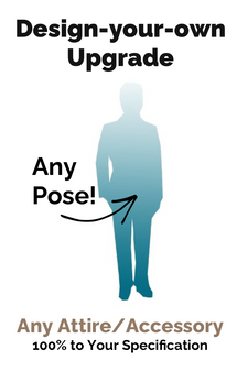 [Upgrade] 100% Design-your-own Groom Figurine (+99)