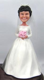 Vintage Bride Cake Topper Figurine