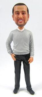 Craig - Sweater Groom Cake Topper Figurine
