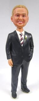 Mark - Stocky Groom Cake Topper Figurine