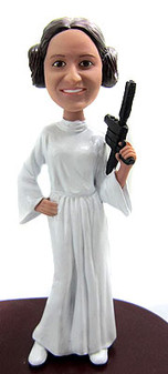 Princess Leia Bride Cake Topper Figurine