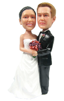 Custom Classic A-Line and Tux Wedding Cake Topper
