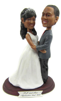 Custom Full Figured Bride and Groom Wedding Cake Topper