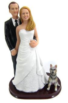 Custom Groom Behind Wedding Cake Topper