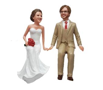 Custom Sitting on Wedding Cake Toppers