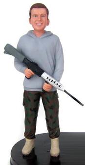 Military Groom Figurine