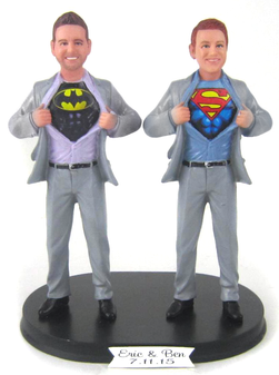 Superhero Grooms Wedding Cake Topper