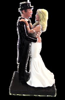 Custom Fancy Groom in Tails Wedding Cake Topper