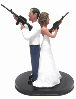 Custom Mr. and Mrs. Smith Wedding Cake Toppers Style 4