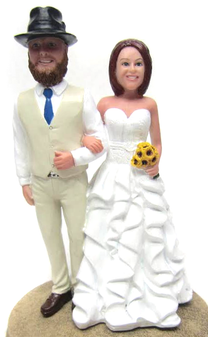 Custom Country Chic Wedding Cake Topper