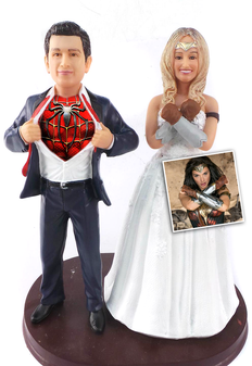Custom New Wonder Woman and Superhero Groom Cake Topper   Your image was added to the product.