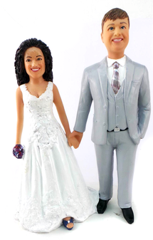 Custom Best Friends Forever Wedding Cake Topper
