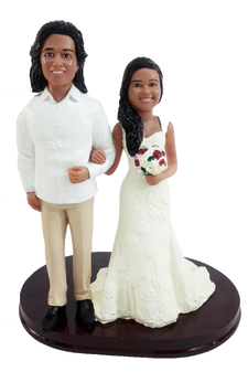 Custom Casual Arm in Arm Wedding Cake Topper