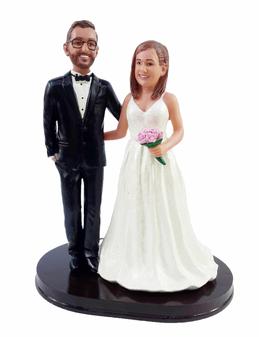 Custom Sweet Arms Around Wedding Cake Topper