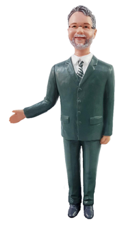 Teasing Suit Groom Cake Topper Figurine