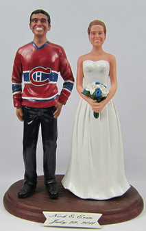 NHL Hockey Jersey Groom w/ Your Choice of Bride