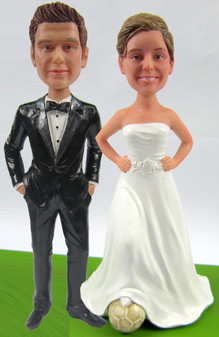 Soccer Bride w/ Mix & Match Groom Cake Topper