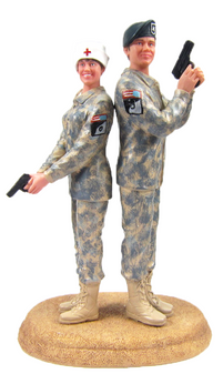 Custom US Army Combat Uniform Wedding Cake Topper