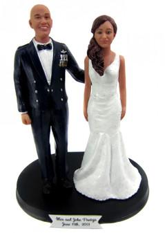 Custom Air Force Mess Dress Groom w/ Mix & Match Bride