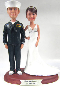 Navy Sailor Groom w/ Interchangeable Bride Style