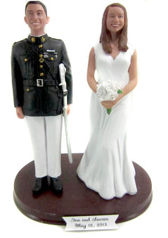 US Marine Corps Officer Wedding Cake Topper