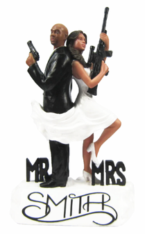 Custom Mr. and Mrs. Smith Wedding Cake Toppers