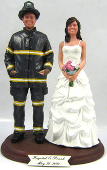 Firefighter Groom w/ Your Choice of Bride