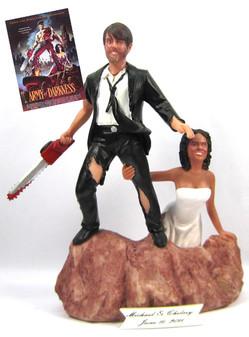 Custom Army of Darkness Wedding Cake Topper