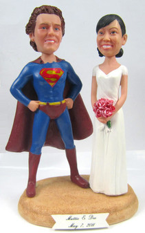Superman Groom w/ Interchangeable Bride Style