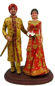 Custom East Indian Wedding Cake Topper
