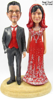 Sari Bride w/ Mix & Match Groom Cake Topper