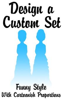 Custom Set of Mix & Match LGBTQ+ Funny Bride Wedding Cake Toppers