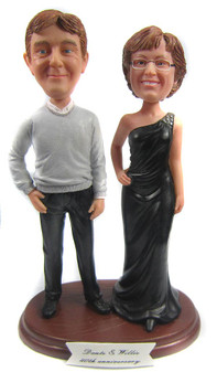 Custom made 50th wedding anniversary cake topper