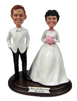 Custom Wedding Anniversary Cake Toppers