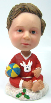 Baby Bobble Head figurine with Ball