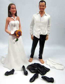 Custom Disheveled Couple w/Mix & Match Bride Wedding Cake Topper
