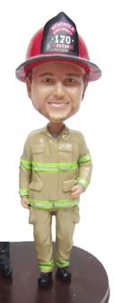 Jeff - Firefighter Groom Cake Topper Figurine