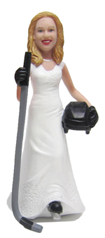 Hockey Bride Cake Topper Figurine