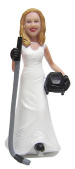 Hockey Bride Cake Topper Figurine