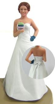 Baker Bride Cake Topper Figurine