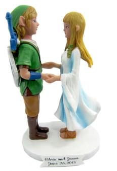 Custom Link and Zelda Wedding Cake Topper