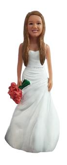 Short Bride Bride Cake Topper Figurine