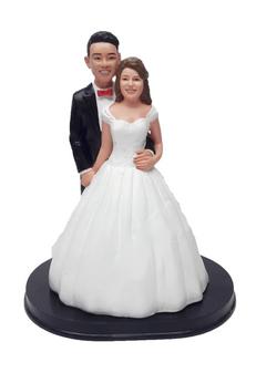 Belle of the Ball custom wedding cake topper