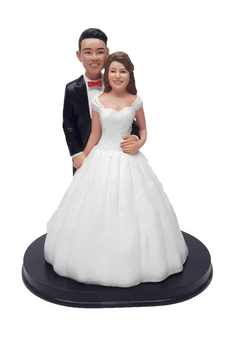 Custom Belle of the Ball Wedding Cake Topper - Beauty and the Beast
